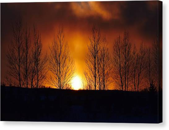 Crisp Sunset Canvas Print