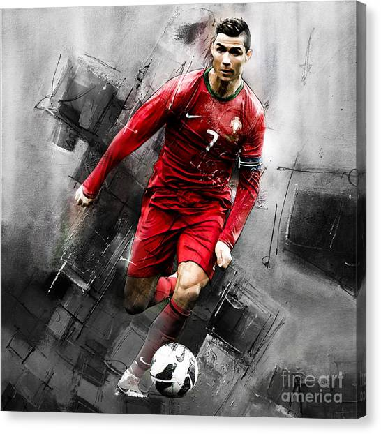 Fc Barcelona Canvas Print - Cristiano Ronaldo 06i by Gull G
