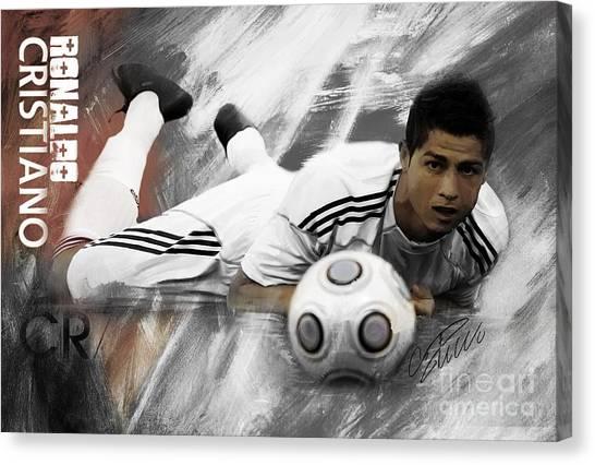 Fc Barcelona Canvas Print - Cristiano Ronaldo 093 by Gull G