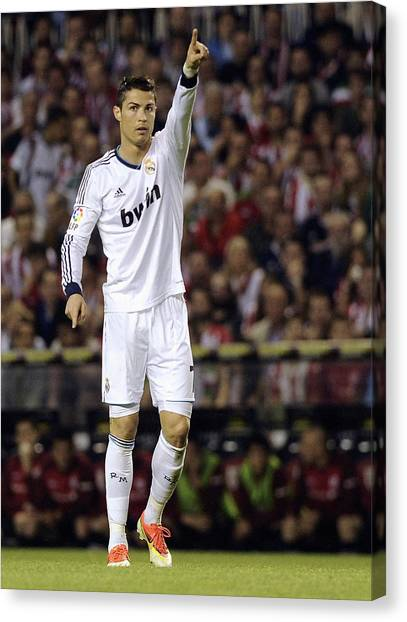 Real Madrid Canvas Print - Cristiano Ronaldo 31 by Rafa Rivas