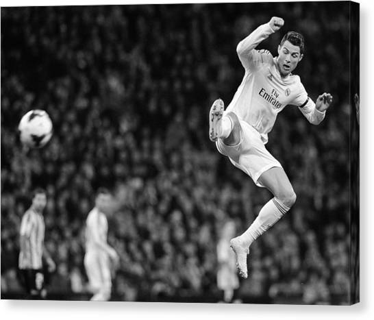 Real Madrid Canvas Print - Cristiano Ronaldo 35 by Rafa Rivas