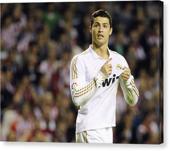 Real Madrid Canvas Print - Cristiano Ronaldo 4 by Rafa Rivas