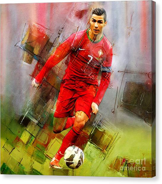 Real Madrid Canvas Print - Cristiano Ronaldo  by Gull G