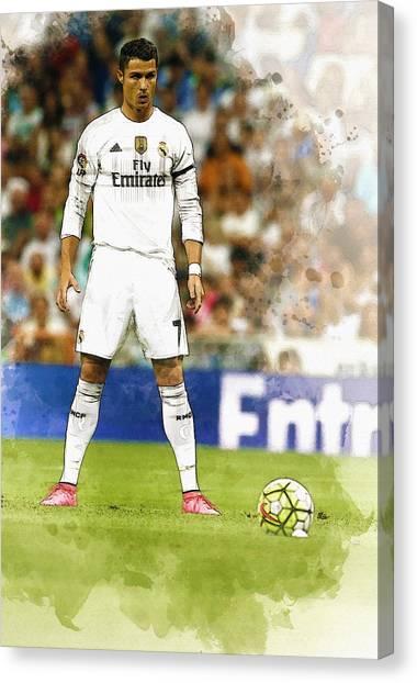 Zlatan Ibrahimovic Canvas Print - Cristiano Ronaldo Reacts by Don Kuing