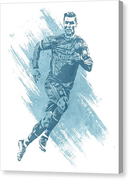 Cristiano Ronaldo Canvas Print - Cristiano Ronaldo Real Madrid Water Color Art 1 by Joe Hamilton