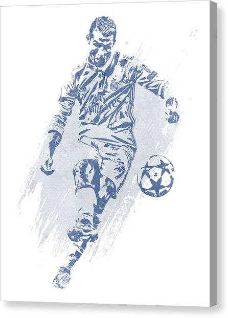 Cristiano Ronaldo Canvas Print - Cristiano Ronaldo Real Madrid Water Color Art 2 by Joe Hamilton