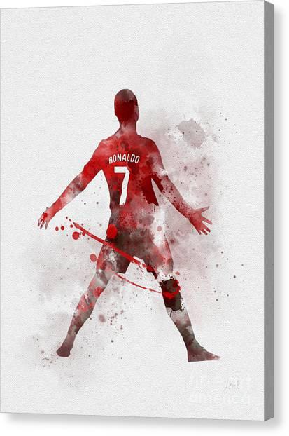 La League Canvas Print - Cristiano Ronaldo United by Rebecca Jenkins