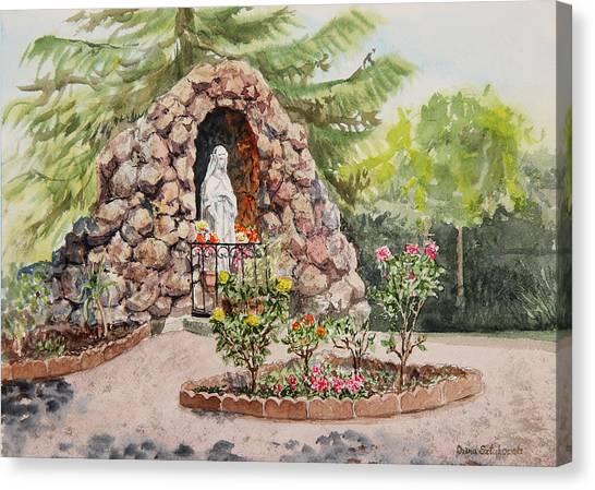 St Mary Canvas Print - Crockett California Saint Rose Of Lima Church Grotto by Irina Sztukowski