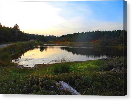 Crooked Lake Road Canvas Print