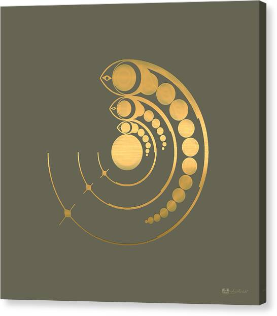 Pop Art Canvas Print - Crop Circle Formation Near Avebury  by Serge Averbukh