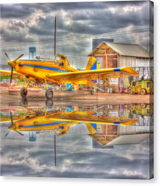 Crop Duster 001 Canvas Print
