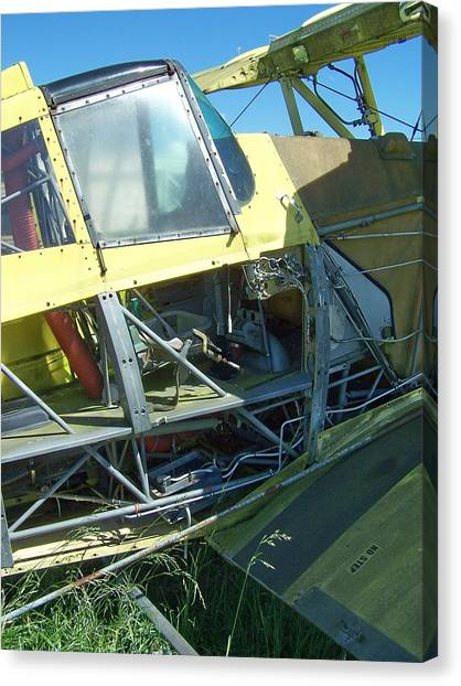 Crop Duster Canvas Print by Gene Ritchhart