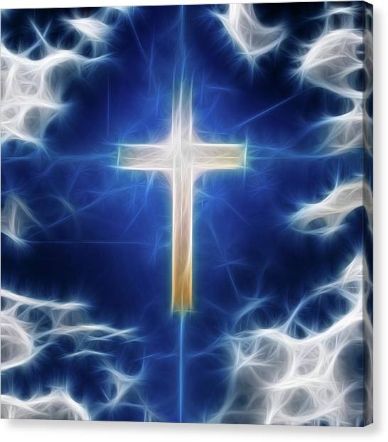Cross Abstract Canvas Print