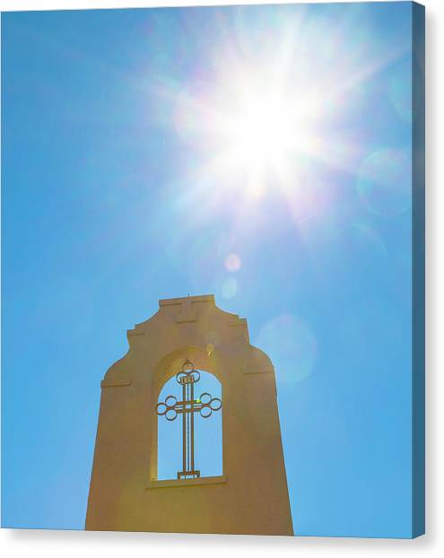 Cross And Sun Canvas Print