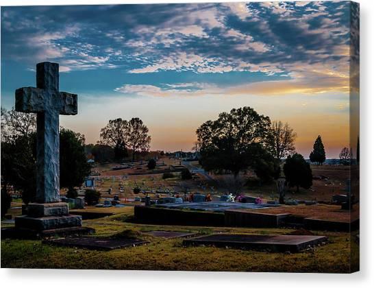 Cross At Sunset Canvas Print