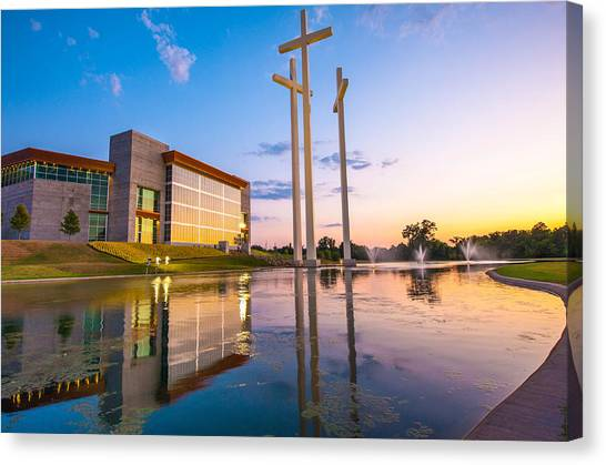 Northwest Canvas Print - Cross Church Sunset - Bentonville - Rogers Arkansas by Gregory Ballos