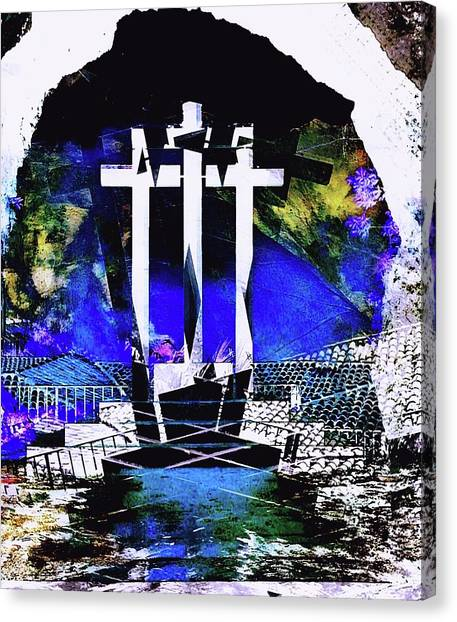 Contemporary Art Canvas Print - Cross by Contemporary Art