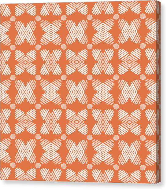 Pumpkins Canvas Print - Cross Cross Diamonds- Art By Linda Woods by Linda Woods