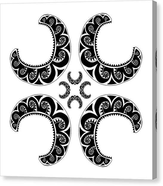 Cross Maori Style Canvas Print