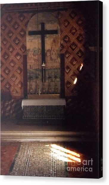 Cross Of Light Canvas Print by Andrea Simon
