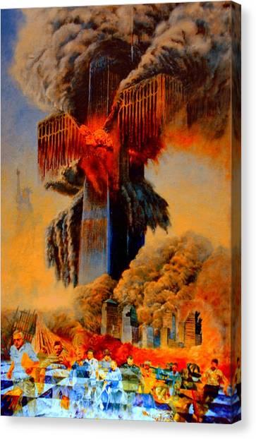 Jihad Canvas Print - Cross Of The Third Millennium by Henryk Gorecki