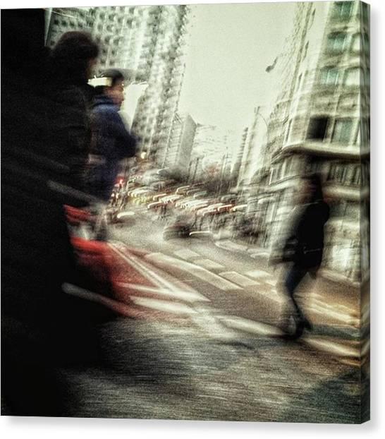 Shapes Canvas Print - Crossers #streetphotography by Rafa Rivas