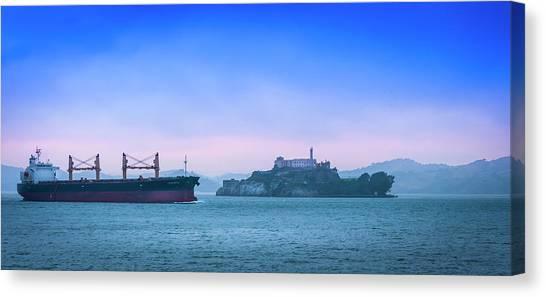 Crossing Alcatraz Canvas Print