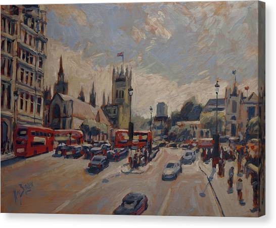 Briex Canvas Print - Crossing At Westminster by Nop Briex