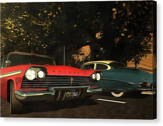 Crossing Oldtimers Canvas Print