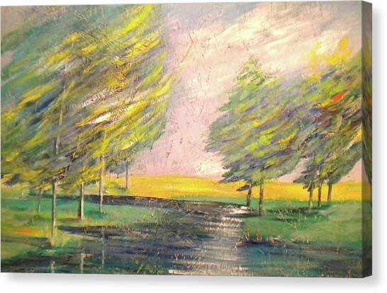 Crossing Over At Watauga River Canvas Print