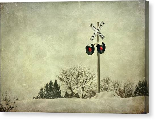 Trains Canvas Print - Crossing Over by Evelina Kremsdorf