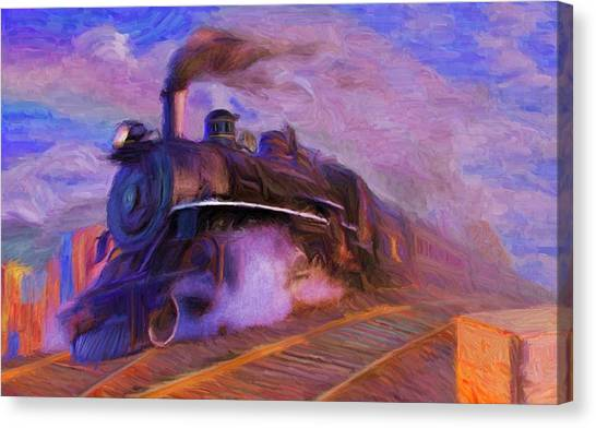 Crossing Rails Canvas Print