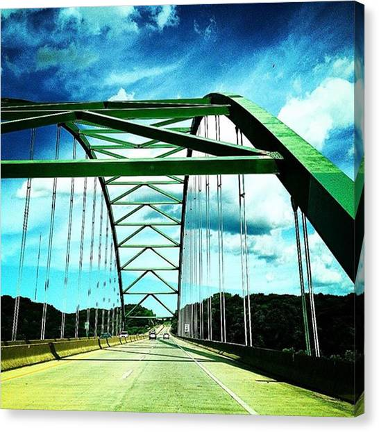 Iowa Canvas Print - Crossing The Mighty Mississippi. #iowa by Melissa Tenpas