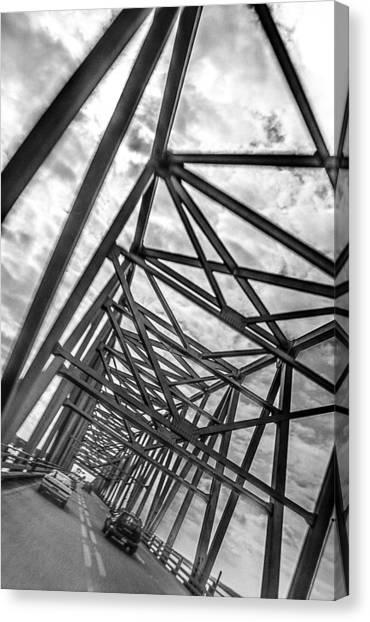 Crossing Through The Chesapeake Bay Bridge Canvas Print
