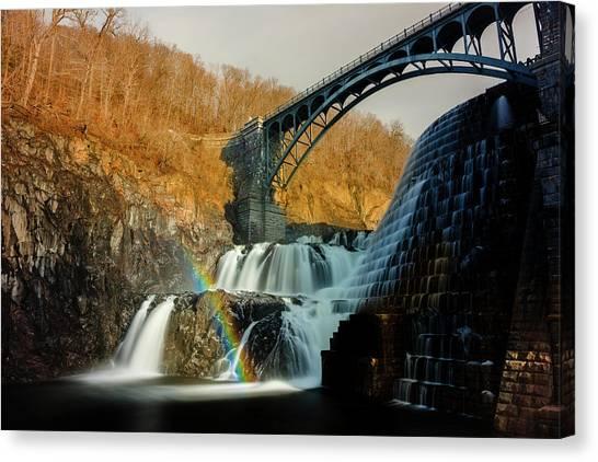 Croton Dam Rainbow Spray Canvas Print