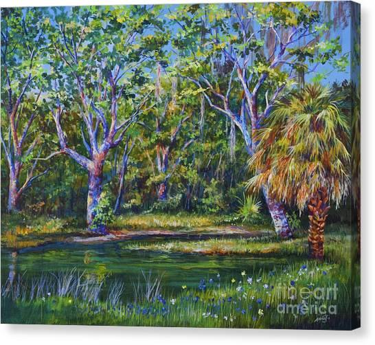 Croton Pond Canvas Print