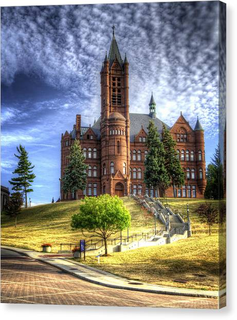 Romanesque Art Canvas Print - Crouse Memorial College Building At Syracuse University by Vicki Jauron