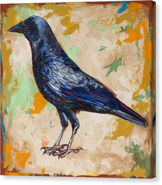 Crows Canvas Print - Crow #1 by David Palmer