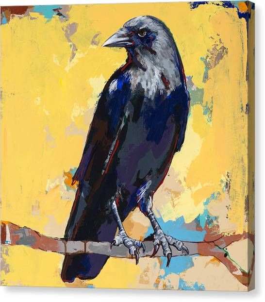 Ravens Canvas Print - Crow #4 by David Palmer