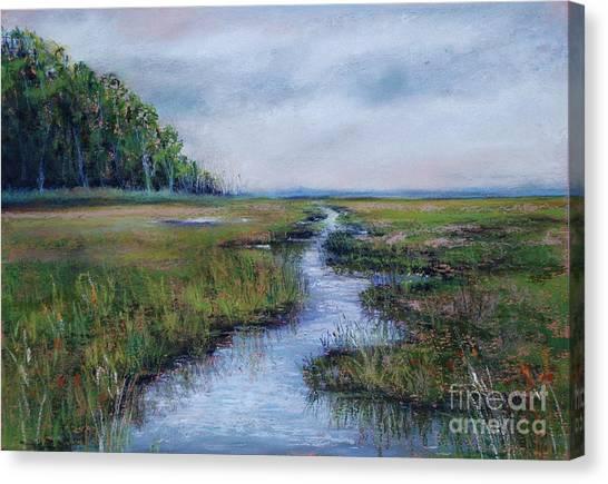 Crow Creek Marsh Canvas Print by Joyce A Guariglia