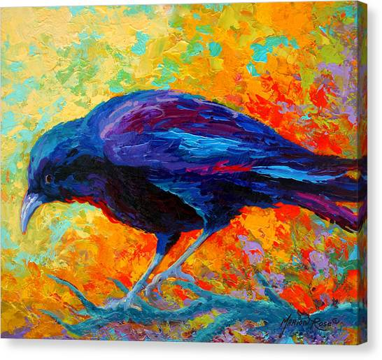 Ravens Canvas Print - Crow IIi by Marion Rose
