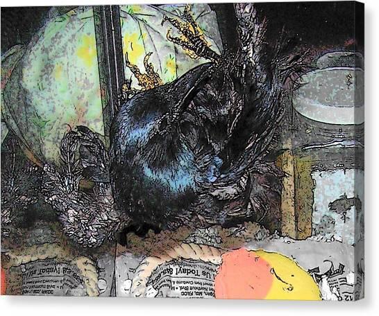 Crow Mid Flip Canvas Print