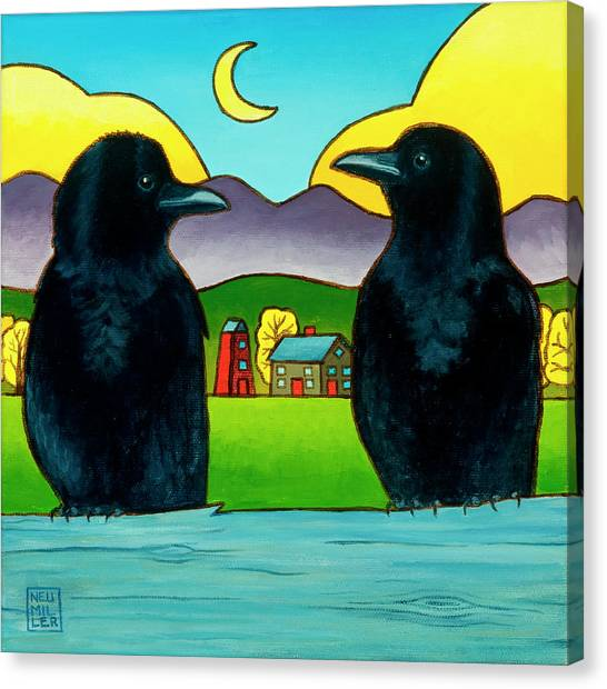 Crow Tales Canvas Print