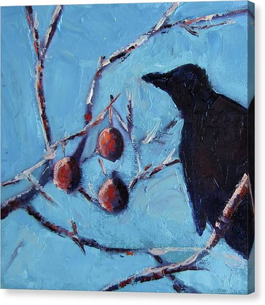 Crow Canvas Print by Wendie Thompson
