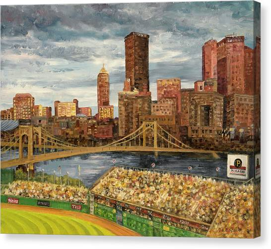 Pittsburgh Pirates Canvas Print - Crowded At Pnc Park by E E Scanlon