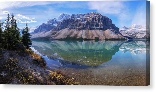 Alberta Canvas Print - Crowfoot Reflection by Chad Dutson