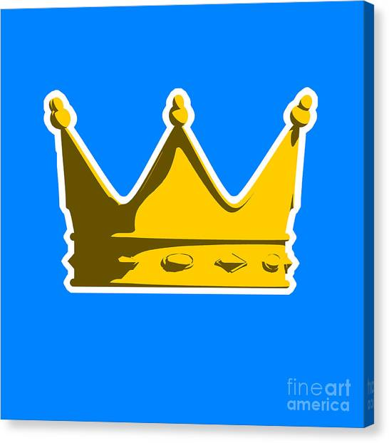 England Canvas Print - Crown Graphic Design by Pixel Chimp