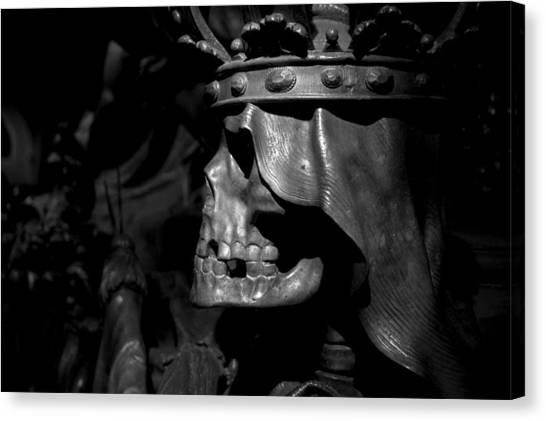 Crowned Death II Canvas Print