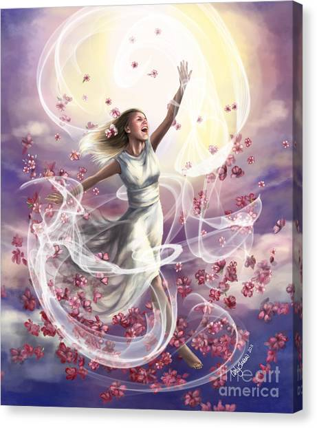 Prophetic Art Canvas Print - Crowned With Glory... Dancing In Glory by Tamer and Cindy Elsharouni