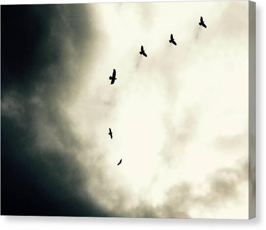 Crows On Christmas Eve 1 Canvas Print